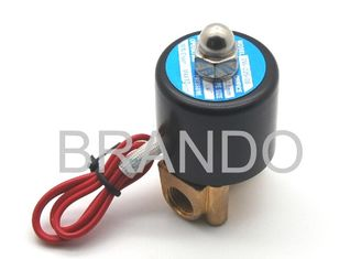 China 24 Volt DC Mini Magnetic Solenoid Water Valve Stainless Steel / Brass Material 2W025-08 supplier