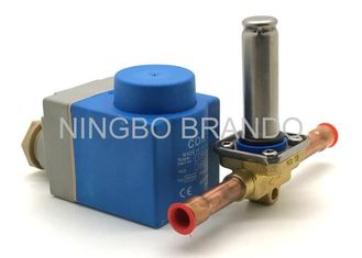 China Solder ODF Connection Type 3/8 Inch 220v AC EVR3 Solenoid Valve for Refrigeration supplier