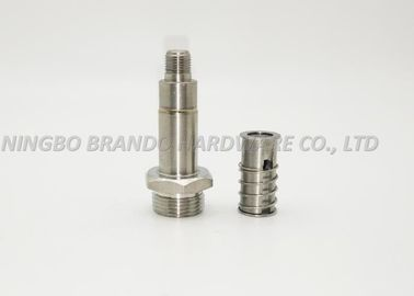 Vacuum High Pressure Fast Operation Solenoid Stem/Vertical Grooves Embed NBR Guide Core