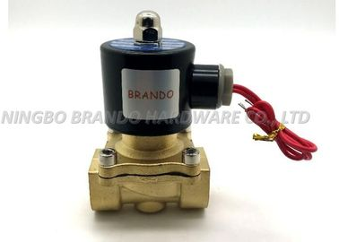 China 2W200-20 3/4 Inch Pipe Size Brass Body 2-Position 2-Way Normally Closed Flying Leads Solenoid Fluid Control Valve supplier