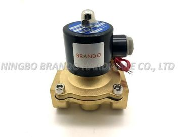 China 2/2 Way NC 220V AC Fluid Control 1 Inch DN25 Brass Body Pneumatic Solenoid Valve for Water Treatment supplier