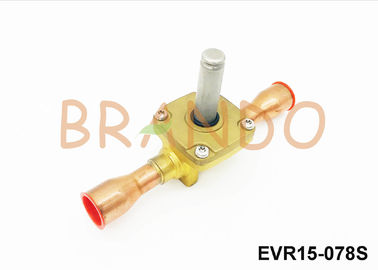 Brass Color Normal Closed Refrigeration Solenoid Valve G 7/8'' Port Size