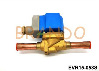 16mm Port Size Solenoid Valve Air Conditioning Part Control Refrigerant EVR 15-058S
