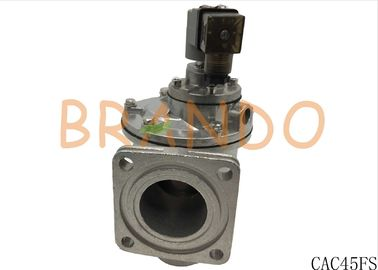 Grey Color Flanged Right Angle Pulse Dust Valve CAC45FS made of Aluminum Alloy