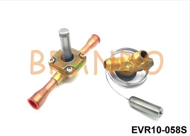 Brass EVR10-058S Solenoid Valve Air Conditioning Welding Connection Type