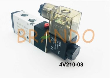 200 Series 1/4'' Pneumatic Cylinder Valve 4V210-08 Working Pressure 0.15-0.8MPa