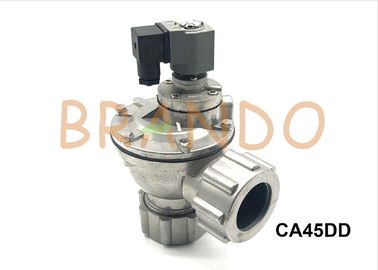 "Aluminum Fitting Pipe Pneumatic Pulse Valve AC 220V CA45DD 1-1/2"" Right Angle"