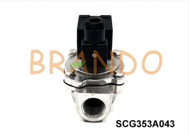 24V DC SCG353A043 Pneumatic Pulse Valve Aluminum Pulse Jet Air Valve 3/4'' Right Angle Thread Port