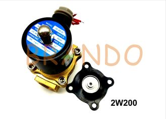 2W200 Series Solenoid Valve Diaphragm Custom Black NBR Working Medium With Water / Oil