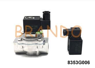 DN25 1'' Inlet Port Pulse Jet Diaphragm Valve DC24V / AC220V Pneumatic / Solenoid Power