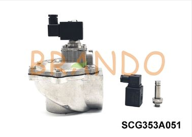 DN65 Thread Port Pneumatic Pulse Valve Aluminum Pulse Jet Valve Right Angle Type