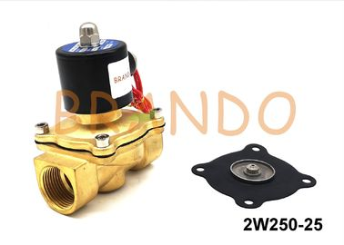 2/2 Way DC24Volt 2W250-25 Brass Solenoid Water Valve Pneumatic