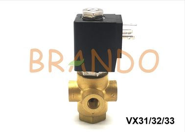 24V DC VX31 / VX32 / VX33 Direct Operated 3 Port Pneumatic Solenoid Valve For Air / Water