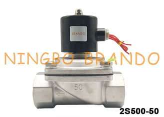 Direct Acting NC 2/2 Way Stainless Steel Solenoid Valve Water Treatment Valve 2S500-50