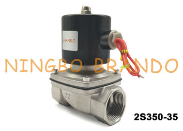 "G1 1/4"" Solenoid Valve 2 Position 2 Way Operated With Stainless Steel NC Pneumatic 2S350-35"
