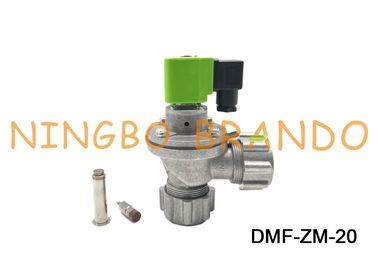 G 3/4 Inch Right Angle Solenoid Pulse Valve DMF - ZM - 20 BFEC Type With Aluminum Alloy Body