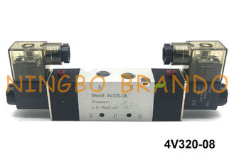 "4V320-08 1/4"" BSPT AirTAC Type Pneumatic Solenoid Valve 5/2 Way Directional Control DC24V"