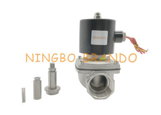 2/2 Way NC 2S350-35 G1-1/4 Inch Stainless Steel Aluminum Body Electric Solenoid Valve For Water Air Steam