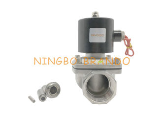 "2/2 Way Normally Closed Direct Drive Aluminum Body 2S400-40 1-1/2"" Stainless Steel Solenoid Diaphragm Valve"