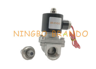 Thread Connector Normal Closed 2S200-20 Series Stainless Steel Valve Water Solenoid Valve DC 24V AC 220V
