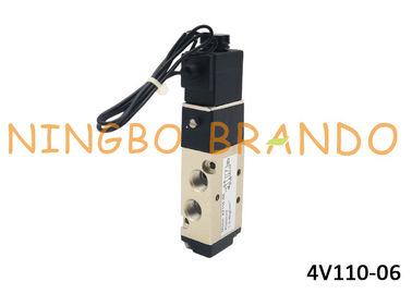 AirTAC Type 4V110-06 DC24V Pneumatic Solenoid Valve For Remote Electric Control With Aluminum Alloy Body