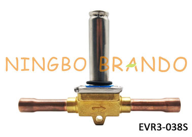 "032F1204 EVR3-038S s Type Solder ODF Connection 3/8"" Solenoid Valve For Refrigeration Without Coil"