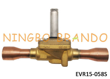 "032L1225 Refrigeration Solenoid Valve s Type EVR15 7/8"" ODF Solder Brass Body For Air Conditioning"