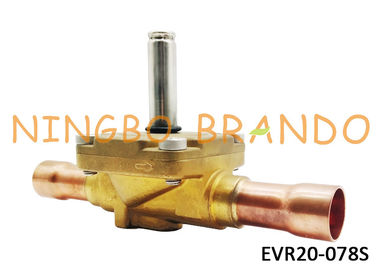 "032L1240 s Type EVR20 Series 7/8"" Refrigeration Valve Normally Closed ODF Solder Brass Body Without Coil"
