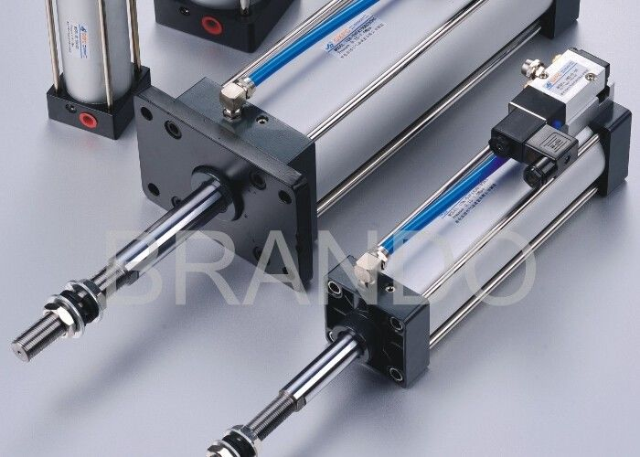 Automation Micro Adjustable Stroke Pneumatic Cylinder 0.15 - 0.9 Mpa Working Pressure