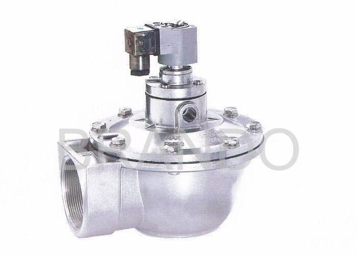 "2 1 / 2 "" G Thread Port Dust Collector Solenoid Valve With Nitrile / Viton Diaphragms"
