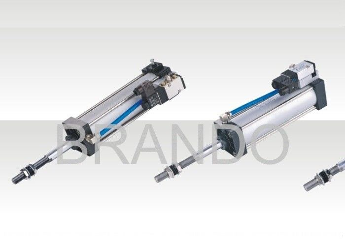 Two Side Adjustable Cushion Double Action Air Cylinder 0.15 - 0.9 MPa Working Pressure