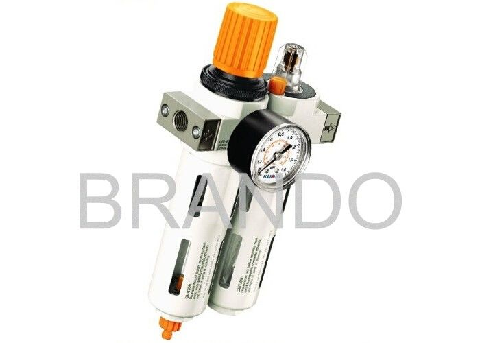 OU Series Adjustable Regulator Filter Lubricator With Aluminium Alloy Protective Hood