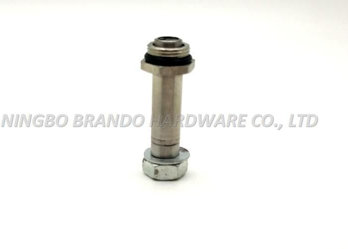 2 / 2 Way Customized Stainless Steel Valve Stems Male Thread With Double Spring