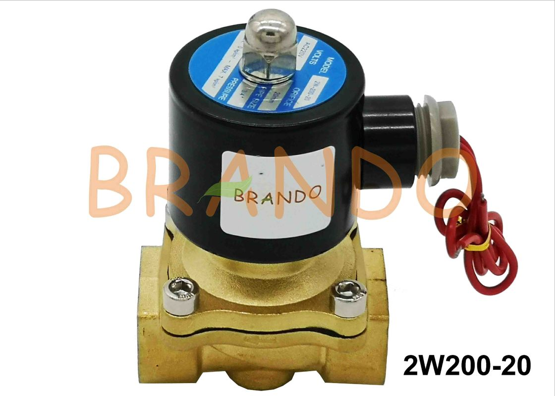 3/4'' Inlet Threaded Port 2W200-20 Pneumatic Water Solenoid Diaphragm Valve In Ultra-pure Water Equipment