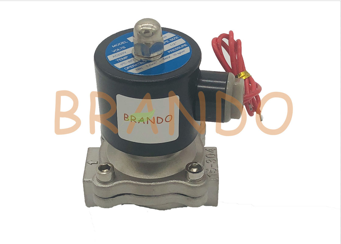 "Normally Closed Solenoid Pneumatic Valve / Thread Water Solenoid Valve 1/2"" Inch"