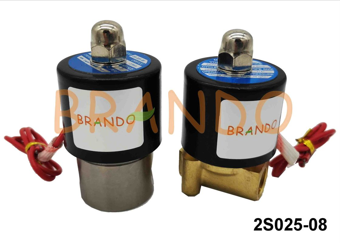 Stainless Steel Pneumatic Solenoid Valve 2S025-08 Flange Connection Type