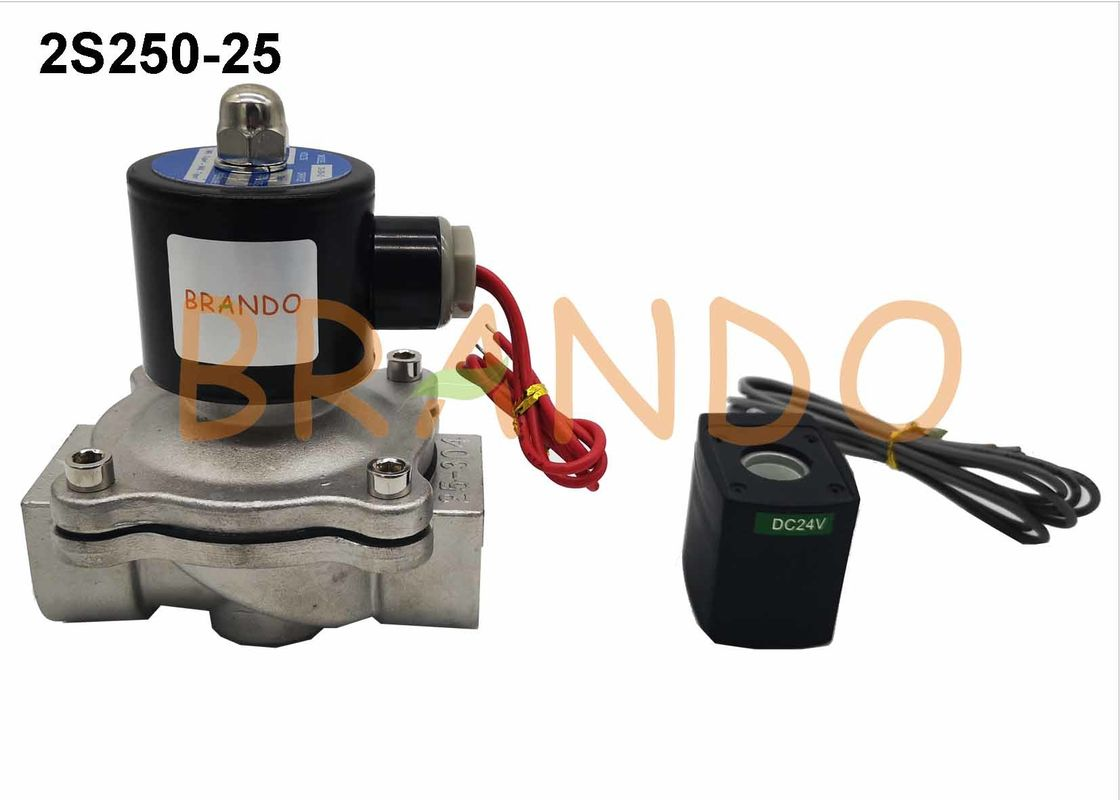 2S250-25 1'' Inch Port Size Diaphragm Pneumatic Water Solenoid Valve In Sewage Treatment Machine