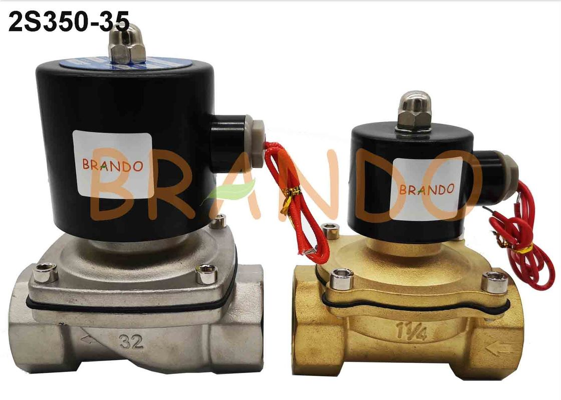 Electric Solenoid Valve DC24V 2S350-35 G1-1//4 Normally Open Stainless Steel Electric Water Solenoid Valve for Water Air