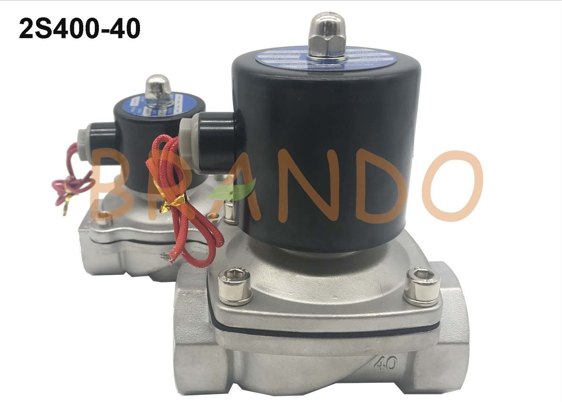 2S Series Stainless Steel Electronic Water Solenoid Valve 1-1/2'' Thread Pipe Size
