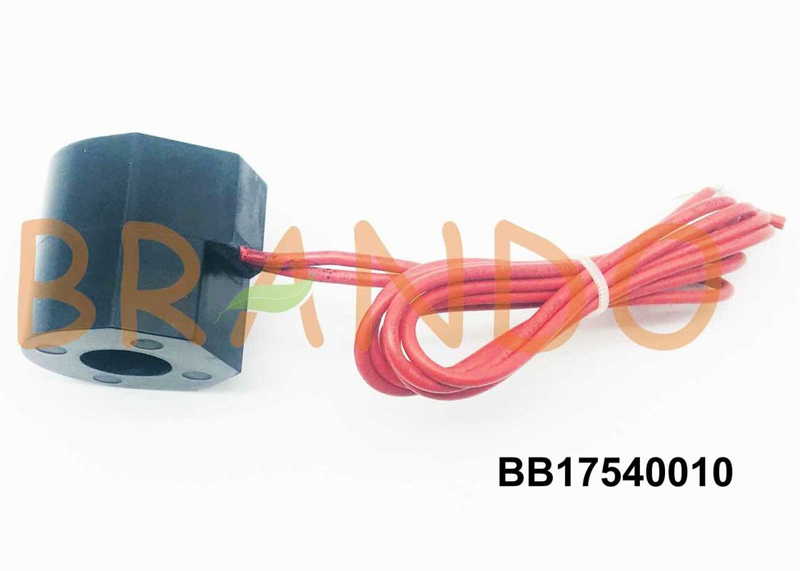 MP-C-011 24 / 60 FT Red Hat Pneumatic Solenoid Coil With Flying Leads Electrical Termination