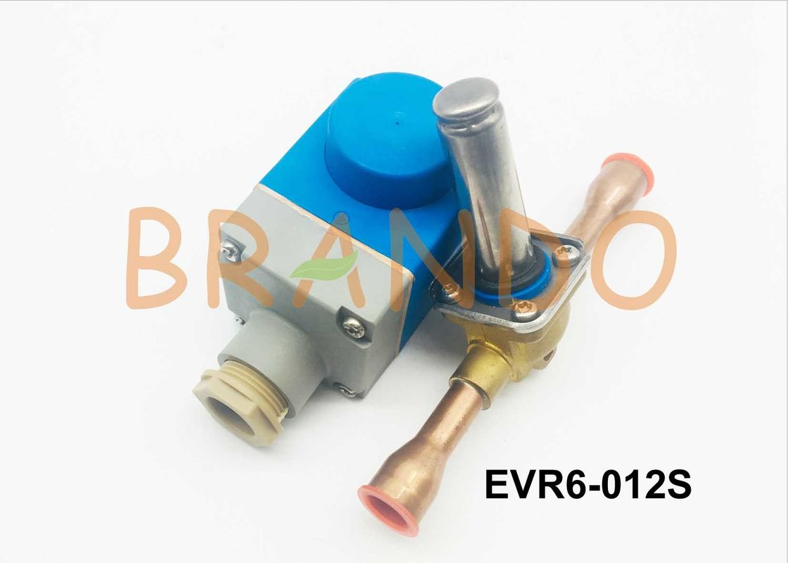 10w Danfoss Type EVR6 Refrigeration Solenoid Valve with Flying Leads Wire Connection