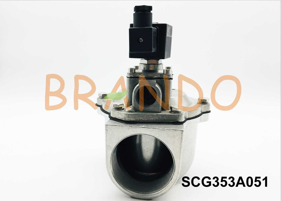 2/2 Way Threaded Pilot Pneumatic Pulse Valve SCG353A051 0.4-0.6MPa