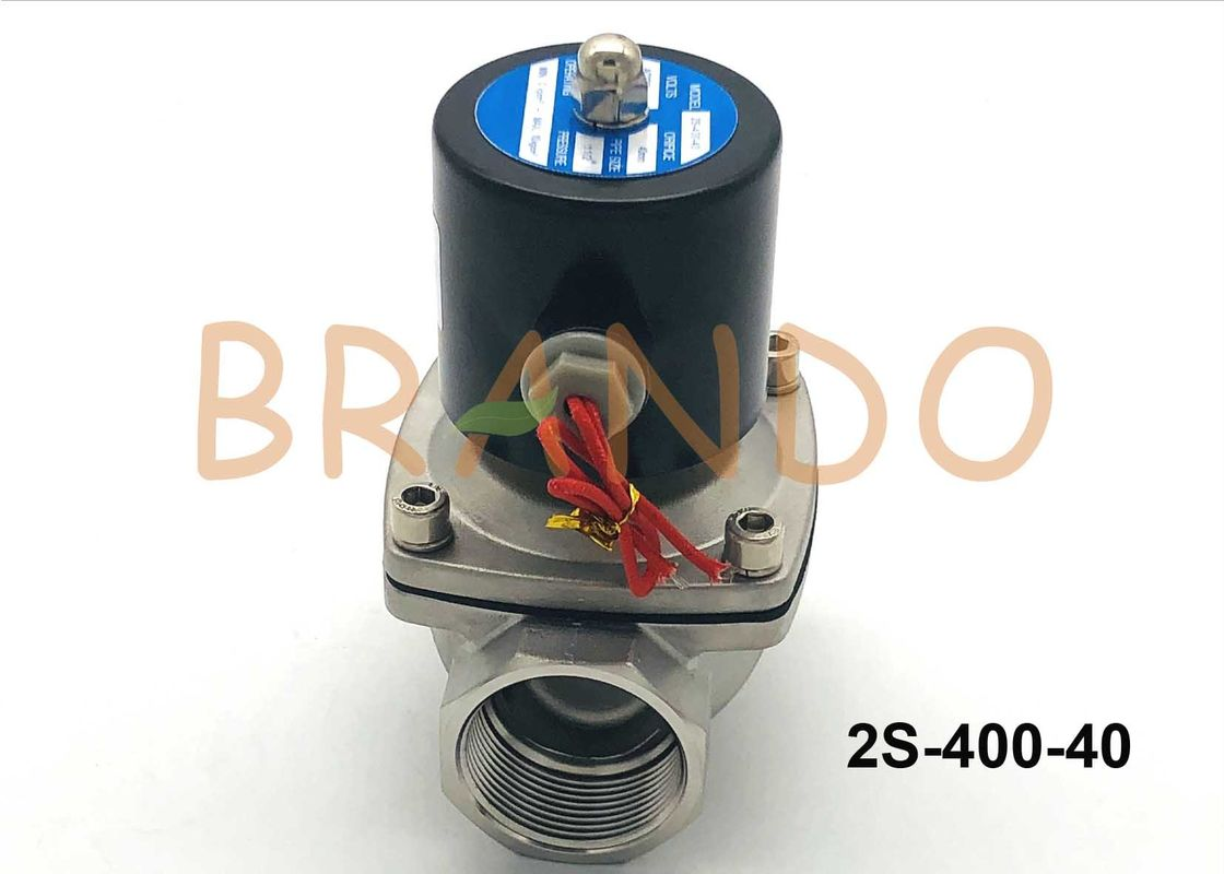 2 Position 2 Way Solenoid Valve / Direct Acting Stainless Steel Water Valve