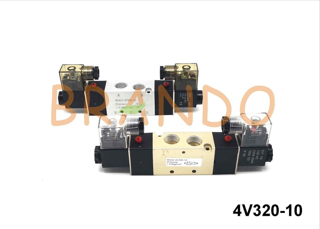5 Way 2 Position Pneumatic Electromagnetic Valve 4V320-10 For Automation Machine