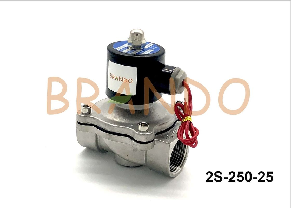 AC220V Stainless Steel Pneumatic Solenoid Valve 2S-250-25 1 Inch Port Size