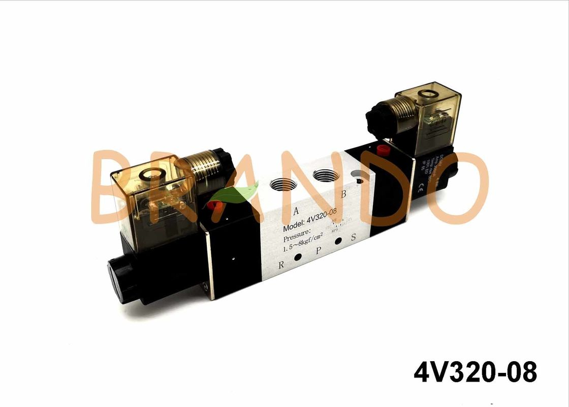 DC / AC 1/4'' Solenoid Pneumatic Valve For Double Acting Pneumatic Cylinder