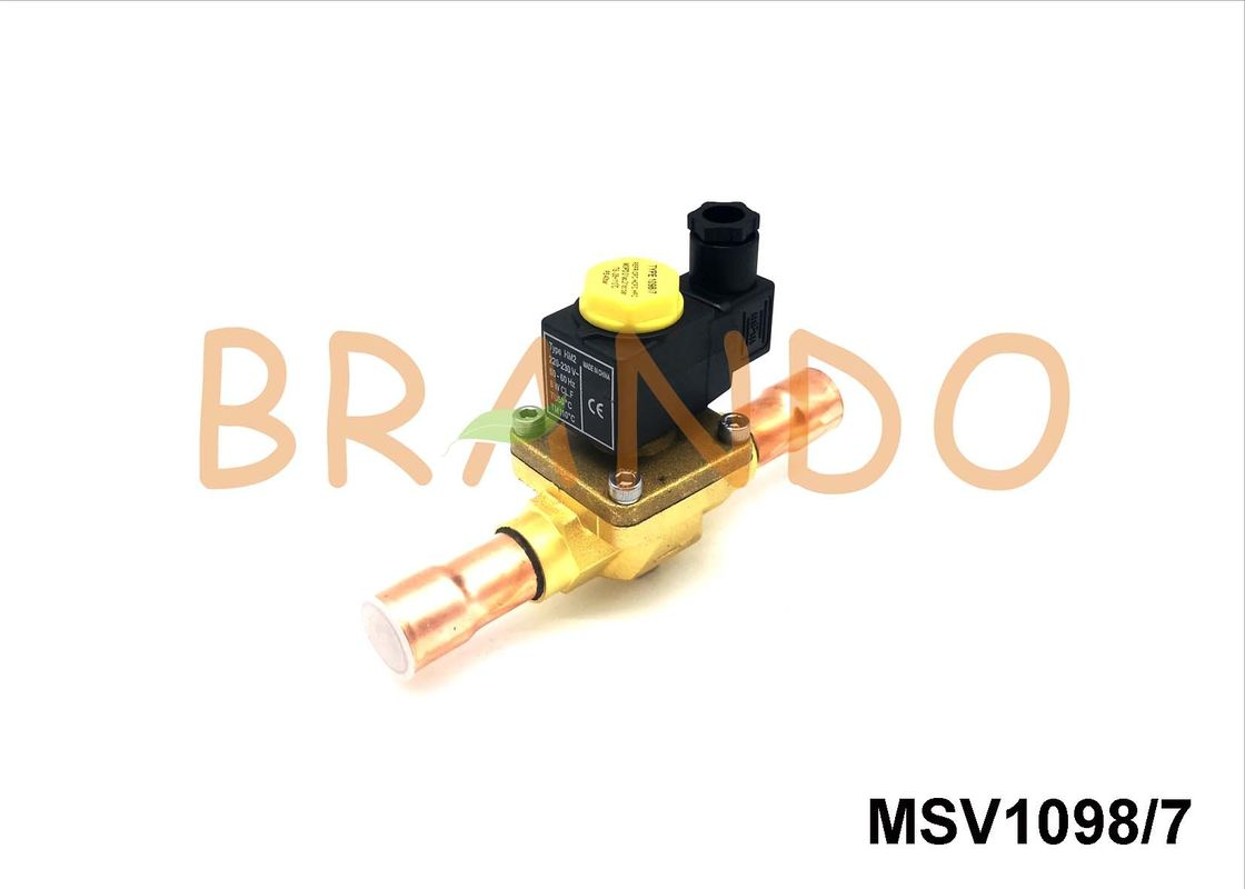 G7/8'' ODF Connection Pneumatic Solenoid Valve MSV-1098/7 For Refrigeration