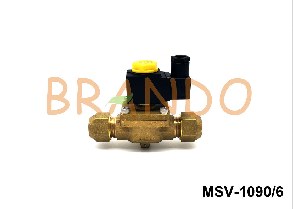Brass Natural Color Gas Solenoid Valve G3/4'' SAE MSV-1090/6 Diaphragm Structure