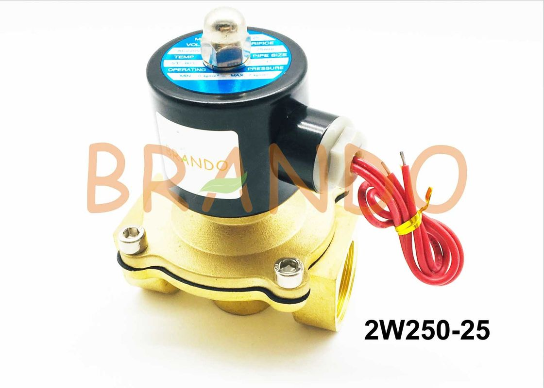 2W Series 2 Way 2 Position Solenoid Valve / 1 Inch Brass Water Solenoid Valve