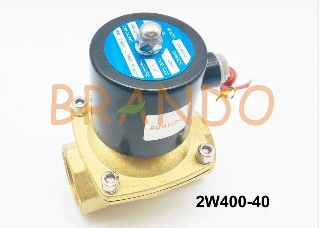 Professional Application in Water Treatment 1 1/2'' Automation Solenoid Water Valve 2W400-40